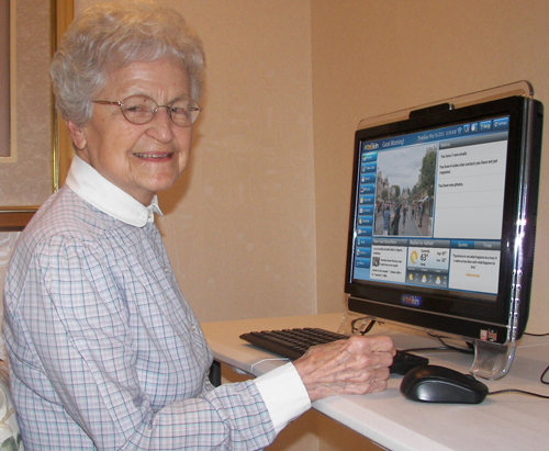 Wynnfield Resident with Telikin Computer
