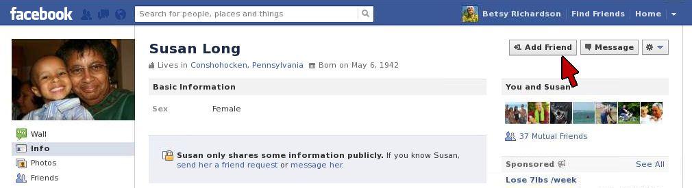 Facebook Add Friend