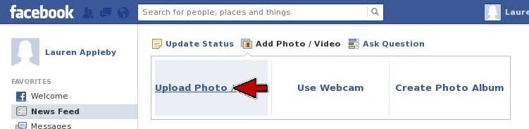 Facebook Upload Photo