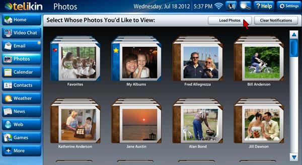 Load Photos Screen